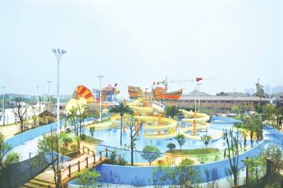 荆州海洋世界水上乐园建设进入景观绿化工程最后阶段